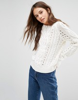 Gestuz Cable Knit Sweater