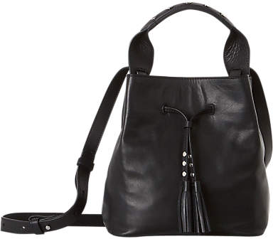 Gerard Darel Mini Saxo Leather Shoulder Bag, Black