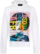 DSQUARED2 printed hooded sweatshirt