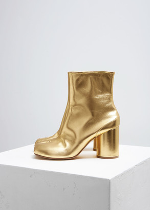 Maison Margiela Women's Tabi Boot in Gold Size 35 Leather