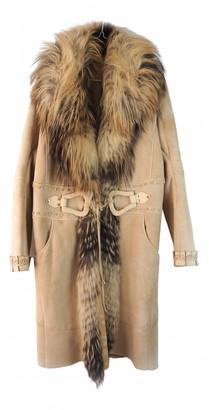 Roberto Cavalli Beige Fox Coats
