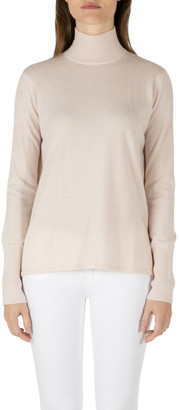 Dion Lee Pale Pink Wool Knit Draped Loop Back Skivvy Pullover M