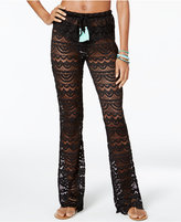 Miken Scalloped Crochet Cover-Up Pants