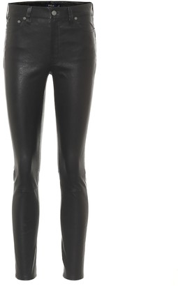 Polo Ralph Lauren High-rise skinny leather pants
