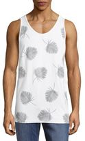 Ezekiel Shaded Foliage-Print Cotton-Blend Tank Tee