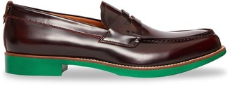 Burberry D-ring Detail Contrast Sole Leather Loafers
