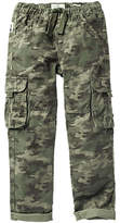 Fat Face Boys' Camouflage Padstow Cargo Trousers, Khaki