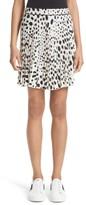 Marc Jacobs Women's Pleated Polka Dot Silk Skirt