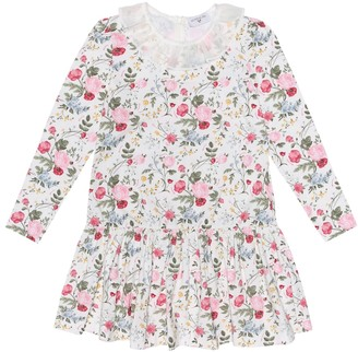 MonnaLisa Floral stretch-cotton dress