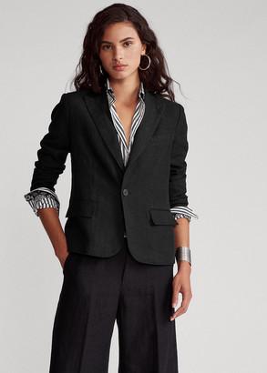 Ralph Lauren Linen One-Button Blazer