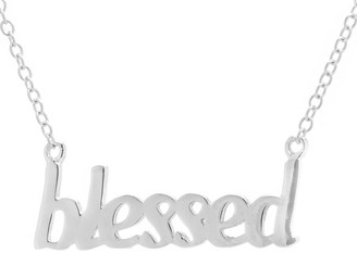 "Unbranded Sterling Silver ""Blessed"" Necklace"
