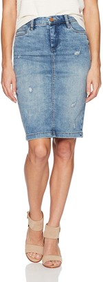 Blank NYC Women's Distressed Pencil Skirt