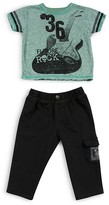 Amy Coe Infant Boys' Future Rock Star Tee & French Terry Pants Set - Sizes 12-24 Months