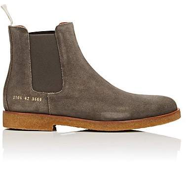 Common Projects Men's Suede Chelsea Boots - Gray