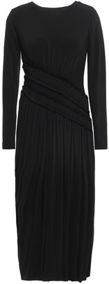 Jason Wu Shirred Gathered Stretch-jersey Midi Dress
