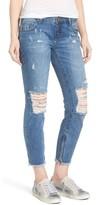 One Teaspoon Women's Freebirds Ripped Crop Skinny Jeans