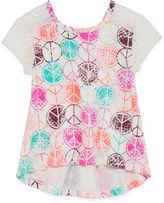 Arizona Short Sleeve Lace Tee - Toddler Girls 2t-5t