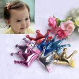Namivad Hair Clips Baby Girls Princess Leather Hair Buckle Pack of 2