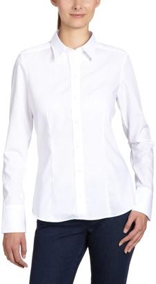 Seidensticker Women's Hemdbluse Langarm Modern Fit Uni Bugelfrei Regular Fit Long Sleeve Blouse