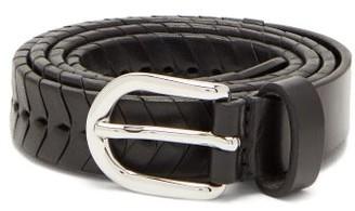 Isabel Marant Pagoo Braided Leather Belt - Womens - Black