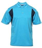 PGA Tour Men's Airflux Colorblock Polo Shirt