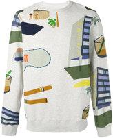 Bellerose hotel print sweatshirt - men - Cotton - M