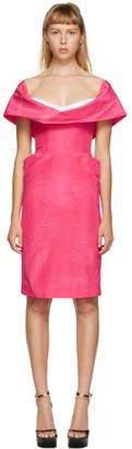 Moschino Pink Cowl Neck Short Dress