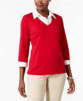 Karen Scott Cotton Layered-Look Top, Only at Macy's