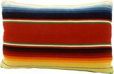One Kings Lane Vintage Serape & Denim Bolster Pillow