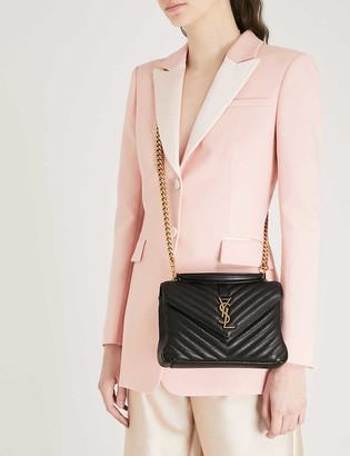Saint Laurent Monogram college small quilted leather satchel