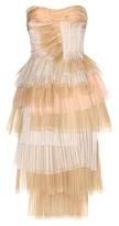 Burberry Tiered Silk Dress