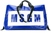 MSGM oversized logo print tote - women - Leather/Polyester/PVC - One Size