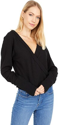 Free People Lupine Tee (Black) Women's Clothing