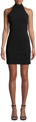 Nicole Miller Structured Heavy Jersey Mini Halter Dress