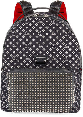 Christian Louboutin Men's Backloubi Neo Jacquard Spike Backpack