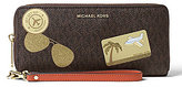 MICHAEL Michael Kors Fly Away Signature Travel Continental Wallet