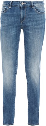 DL1961 Faded Low-rise Skinny Jeans