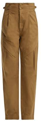 Atelier Jean Gemma Paper-bag Waist Jeans - Womens - Camel