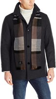 London Fog Men's Barrington Car Coat with Scarf