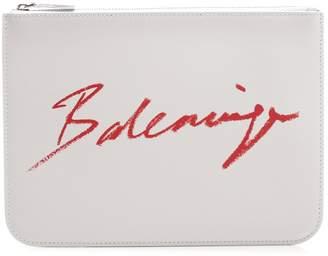 Balenciaga Signature Logo Pouch