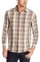 Haggar Men's Long Sleeve Heather Huntsman Woven Shirt