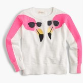 J.Crew Girls' popover sweater in flamingos print