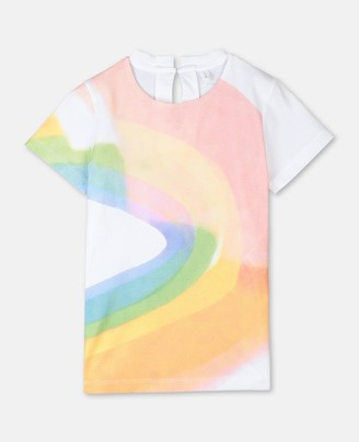 Stella Mccartney Kids Stella McCartney paint rainbow cotton t-shirt