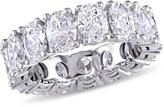 Julie Leah 4 6/7 CT TW Oval-Cut Diamond 18K White Gold Eternity Band