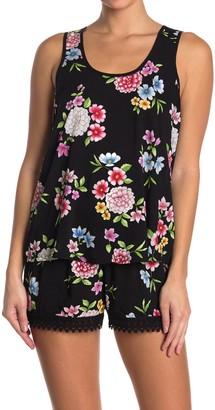 Kensie Sleeveless Floral Pajama Tank