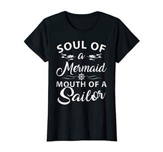 Womens SOUL OF A MERMAID MOUTH OF A SAILOR T-Shirt
