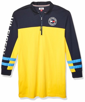 Tommy Hilfiger Women's Adaptive Rugby Dress with Extended Zipper Pull