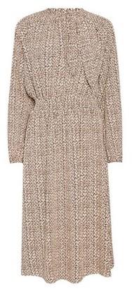 Dorothy Perkins Womens Vila Brown Long Sleeve Ditsy Print Midi Dress, Brown