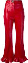 Awake cropped flared trousers - women - Polyester/Viscose - 40