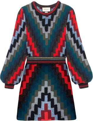 Gucci Geometric Knitted Mini Dress